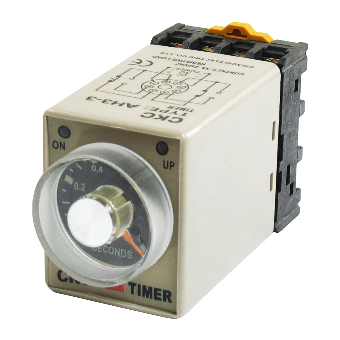 AC 24V 0-1 Sec 8P Screw Resistive Load Delay Timer Time Relay w Socket