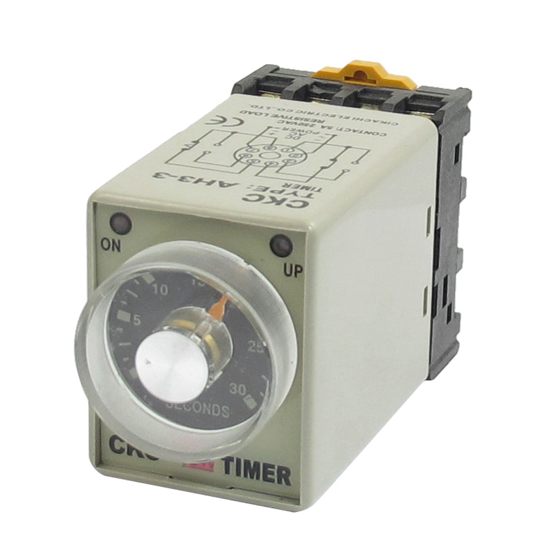 On/Up LED Indicator 0-30 Sec 8P AH3-3 Power Timing Relay 24VDC w Socket