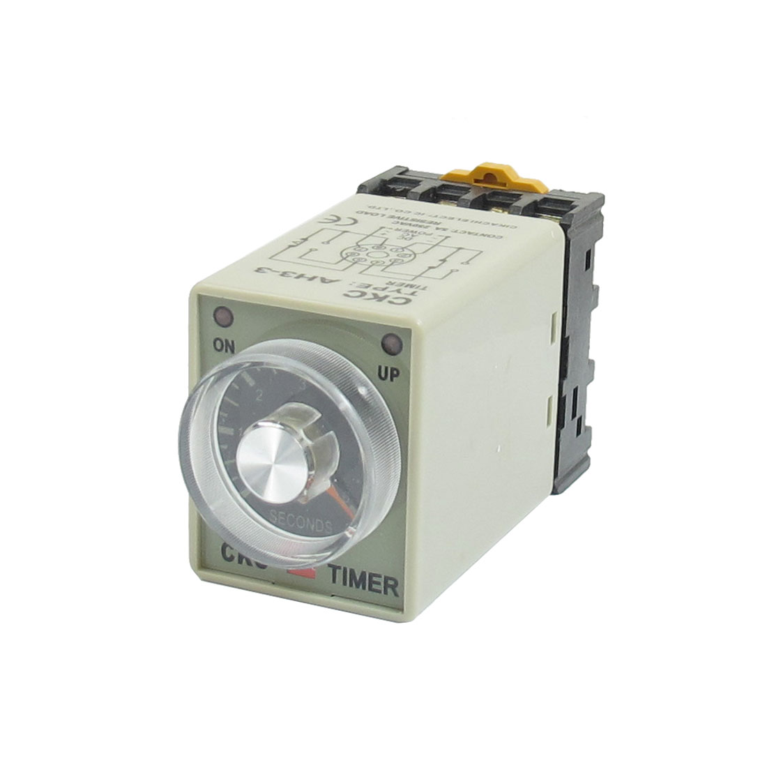 AH3-3 12VDC 0-6 Seconds Timer Power ON Delay Time Relay DPDT 8 Pin w Base