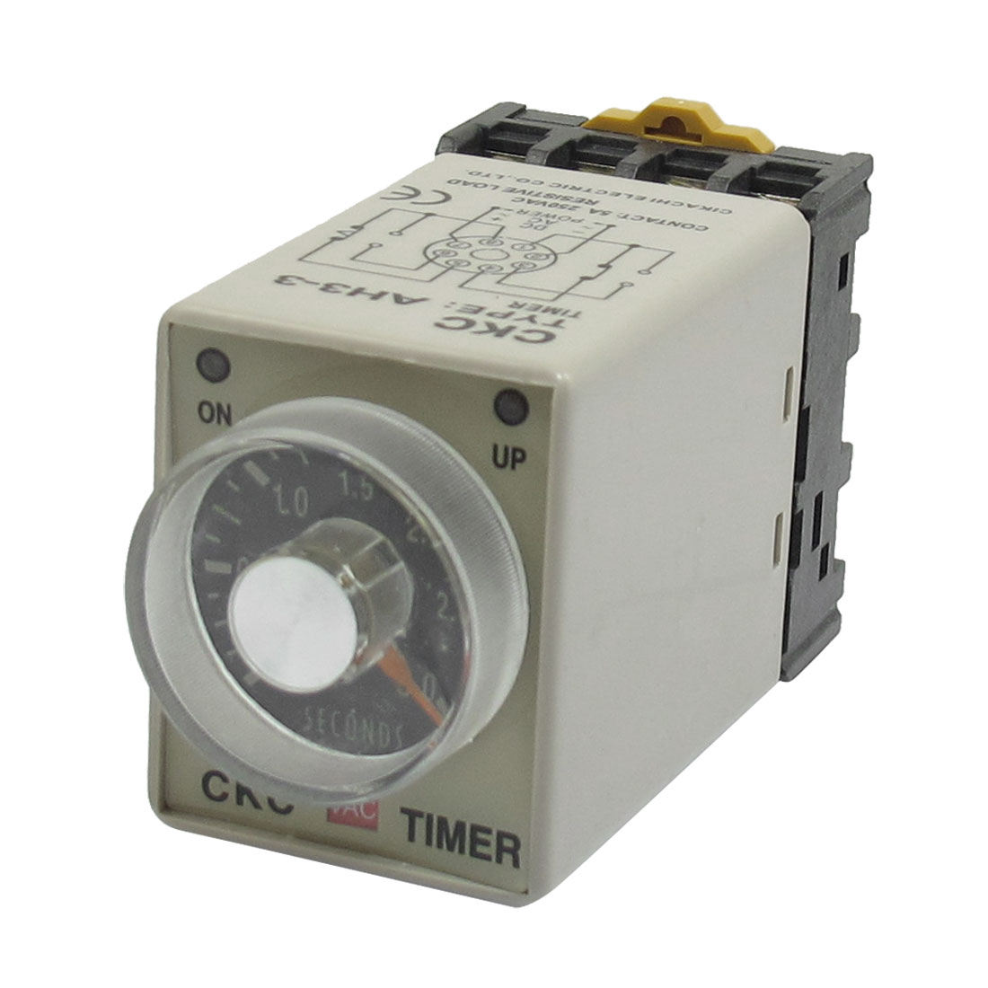 On/Up LED Indicator 0-3s 8P AH3-3 Power Timing Relay 220VAC + Base