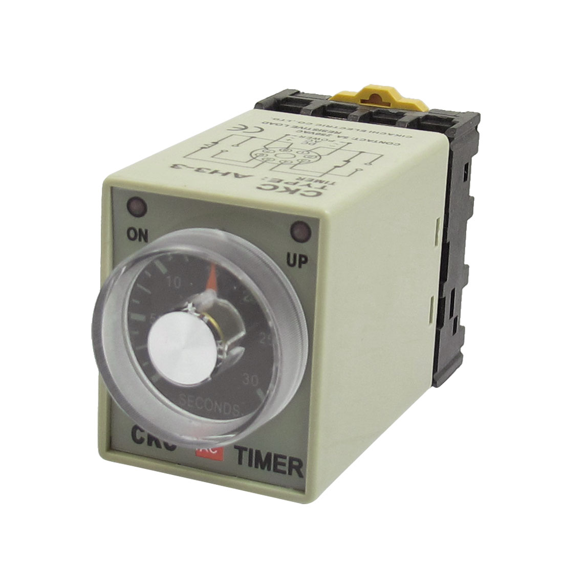 0-30 Seconds 8P Screw Resistive Load Delay Timer Time Relay w Socket AC 380V