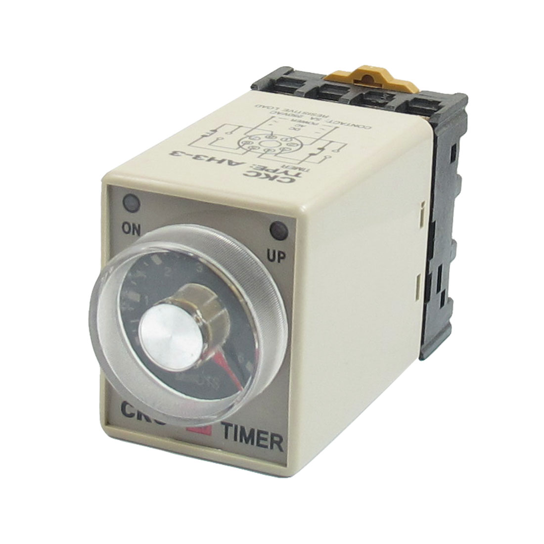On/Up LED Indicator 0-6 Minutes 8P AH3-3 Power Timing Relay 110VAC w Base