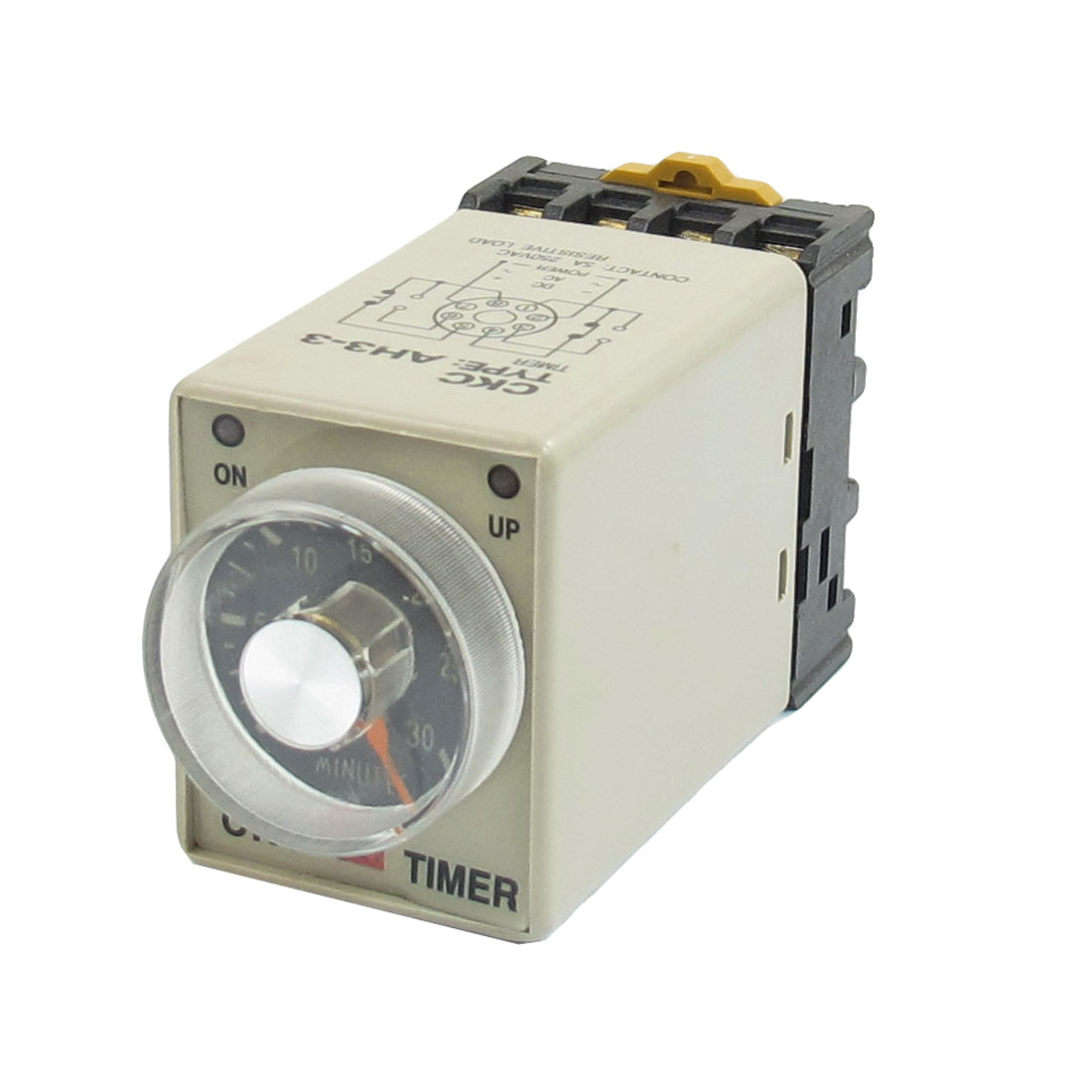 DC 12V 0-30 Minutes 30 Min Delay Timer Time Relay w 8 Pin DIN Rail Socket