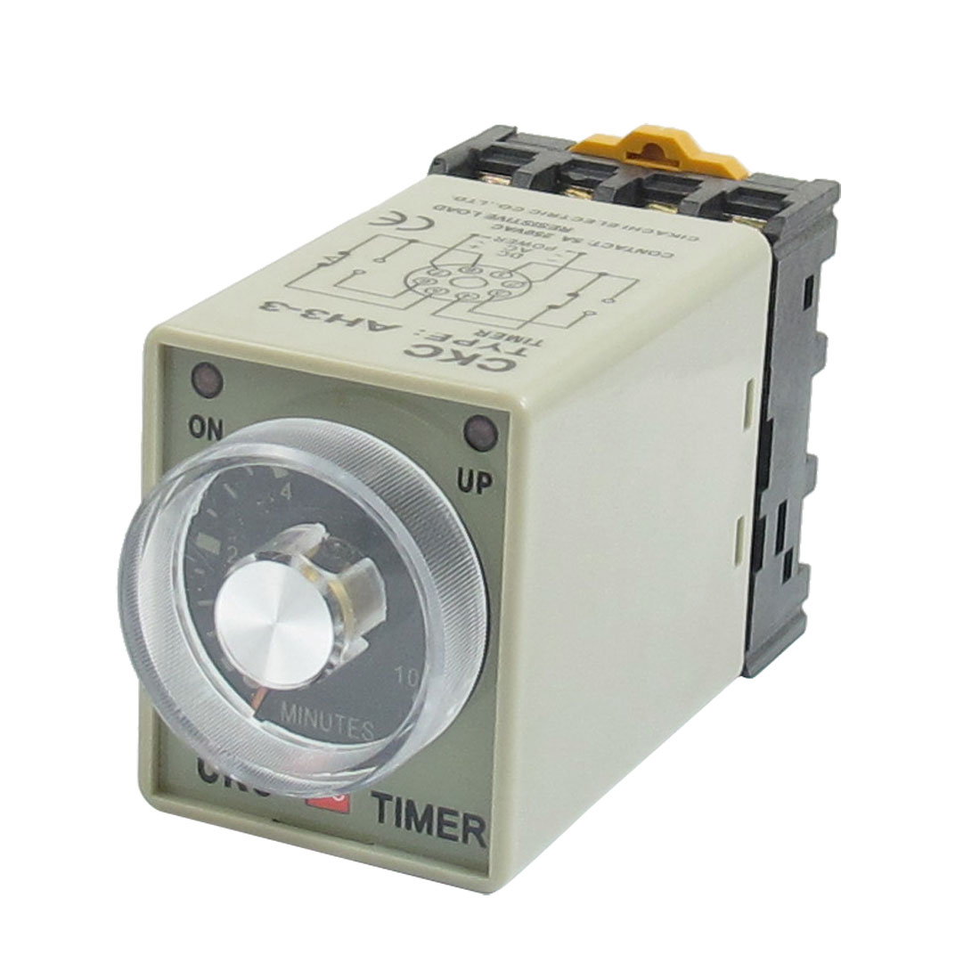 AH3-3 DC 24V 0-10 Minutes 10m Timer Power ON Delay Time Relay 8 Pin w Base