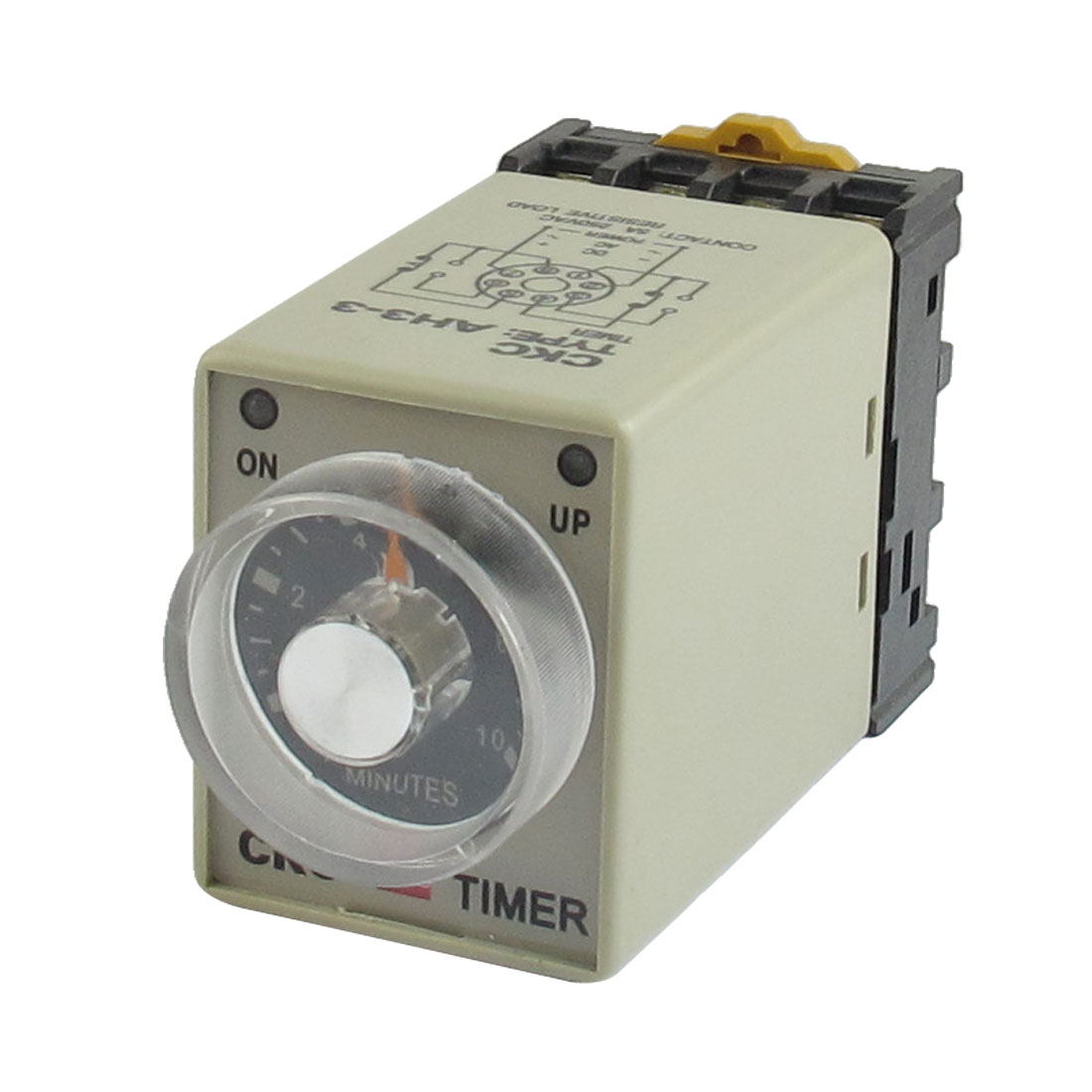 AH3-3 110VAC Power On 0-10Min 10 Minutes Delay Timer Time Relay + Socket
