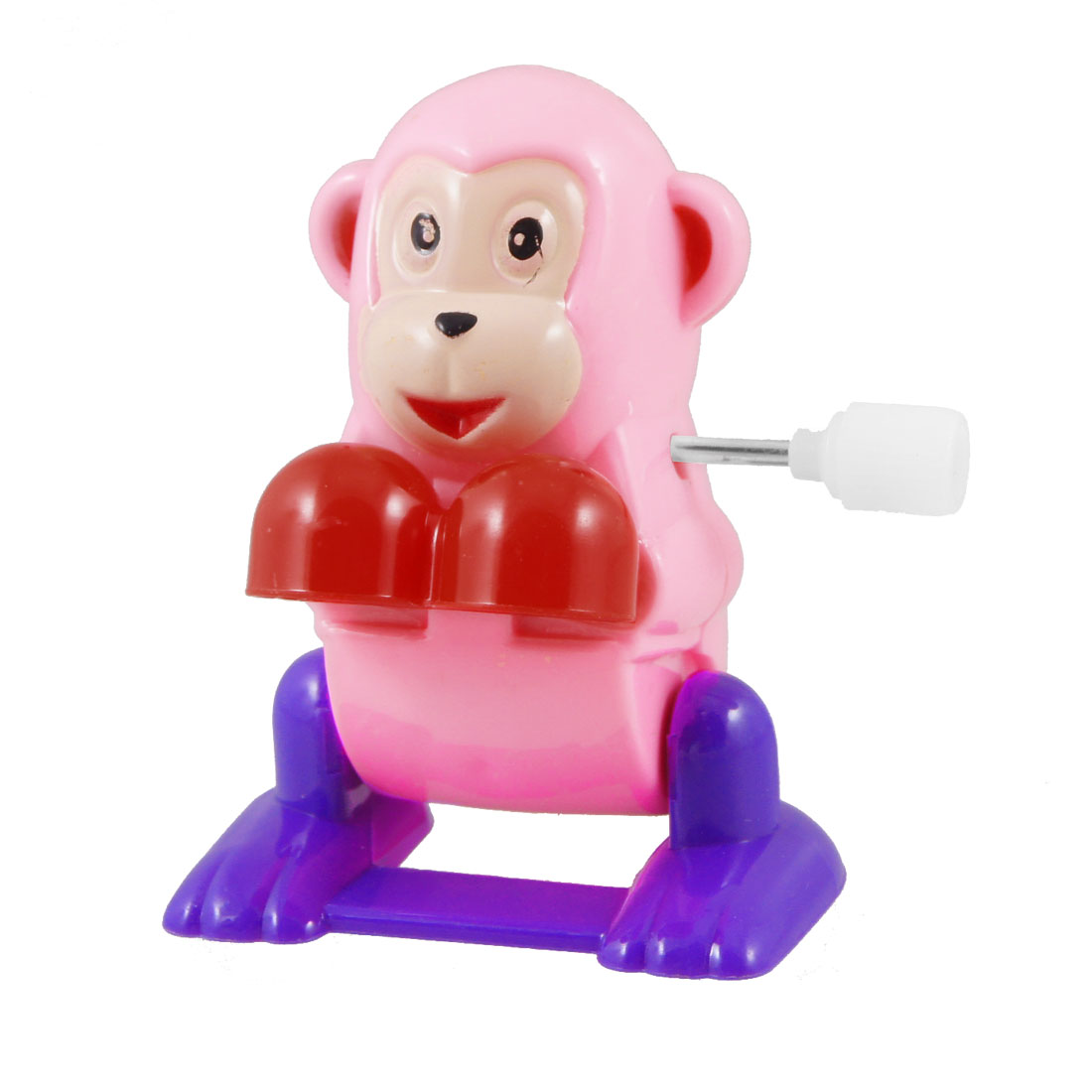 Pink Red Purple Plastic Wind Up Design Clockwork Cartoon Monkey Toy