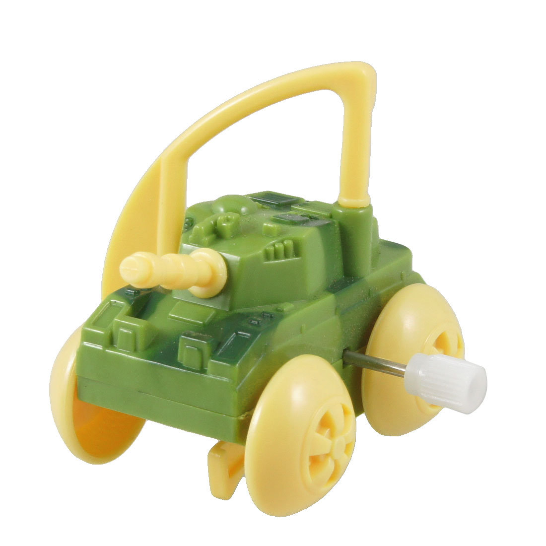 Army Green Plastic Wind up Clockwork Cartoon Tank Toy for Child
