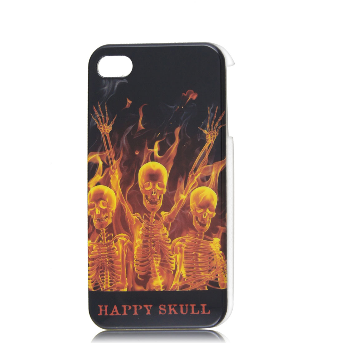 Yellow Orange Skulls Hard IMD Case Cover for Apple iPhone 4 4G 4S 4GS