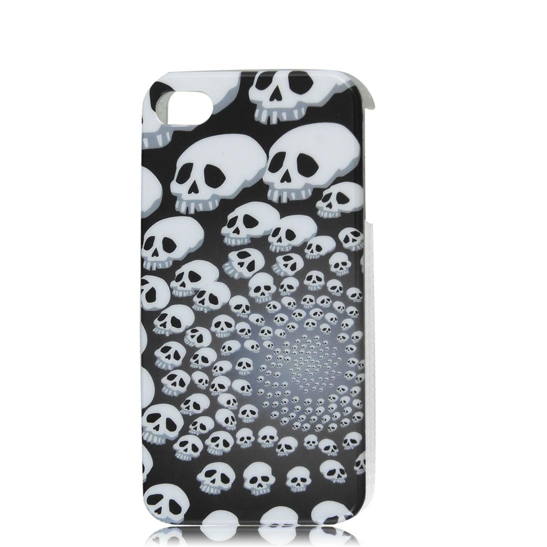 Gray White Skulls IMD Hard Back Case Cover for Apple iPhone 4 4G 4S 4GS