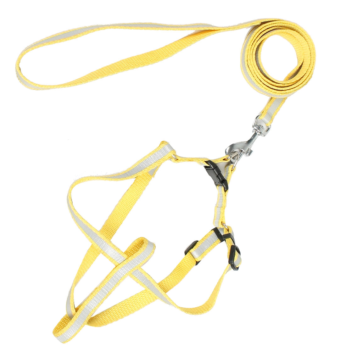 Yellow Nylon Rope Pet Dog Fluorescent Halter Harness Lead Leash 1.2M