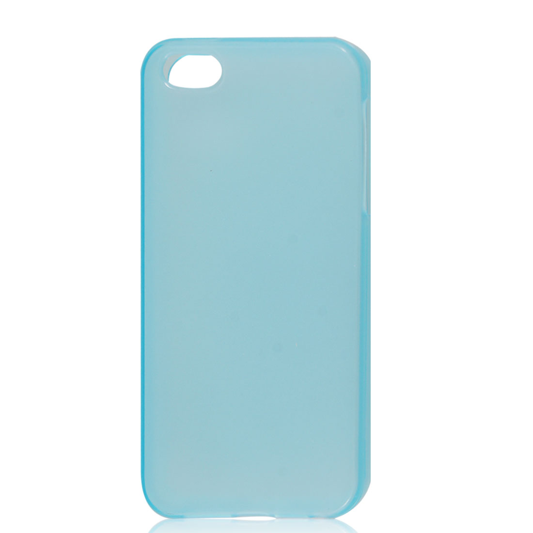 Clear Blue Soft Plastic TPU Protective Case Cover for iPhone 5 5G