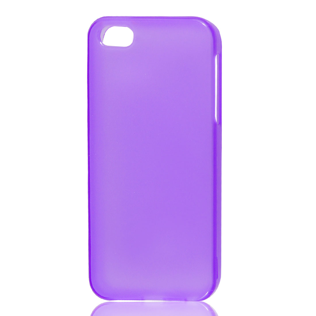 TPU Soft Plastic Case Cover Clear Purple for iPhone 5 5G 5th Gen