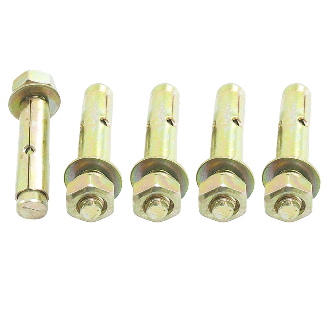 5 Pcs M10 x 70mm Hex Nut Expansion Bolt Sleeve Anchors Tool