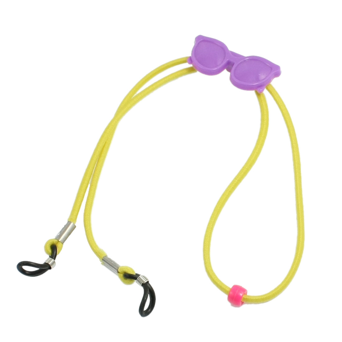Yellow Stretchy Nylon Rope Purple Plastic Glasses Decor Sunglasses Retainer