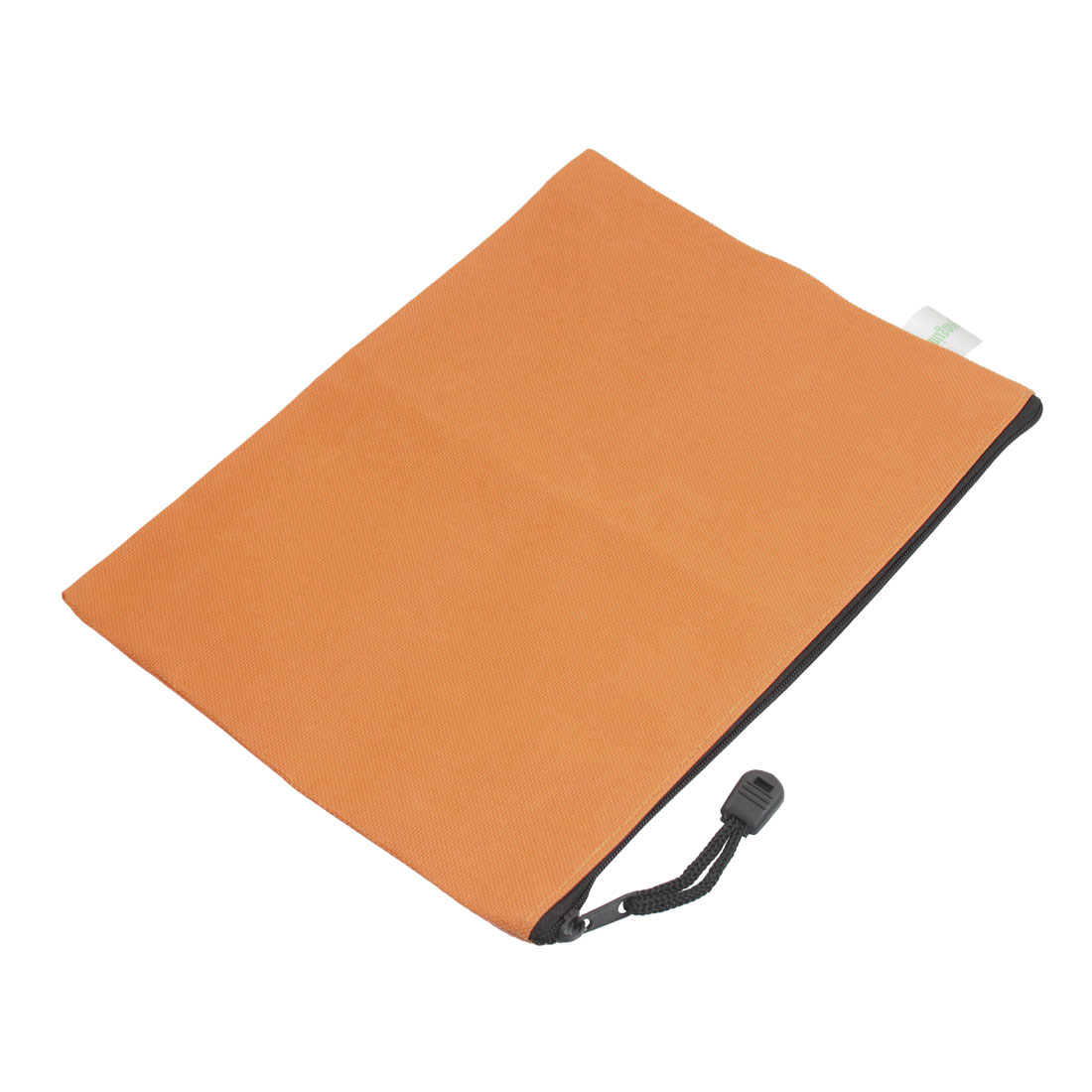 Stationery Pens Paper File Document Zip Up Bag Orange for A5 Paper