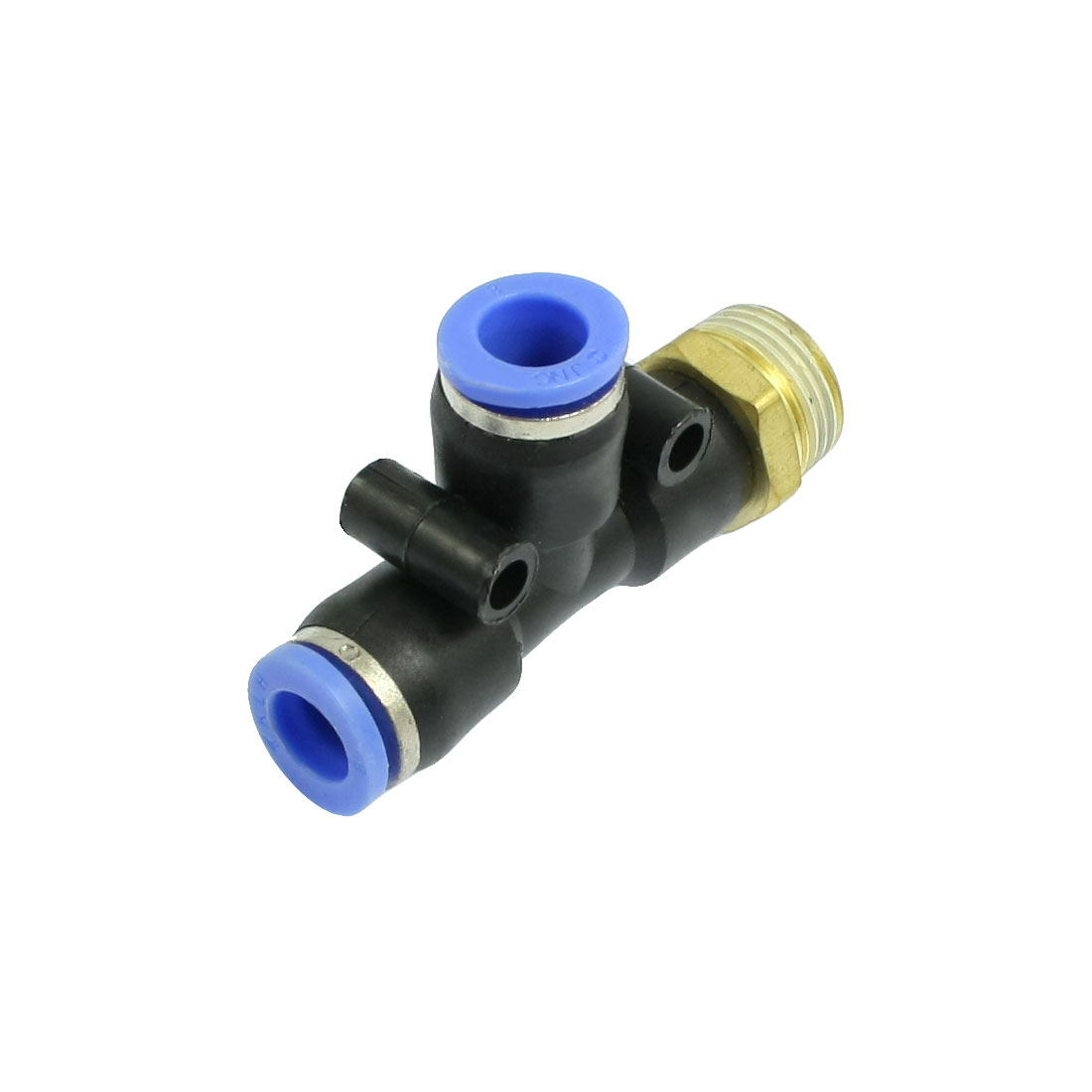 T Shaped 3/8 Male Thread to 8mm Push in Joint Pneumatic Quick Fitting Connector