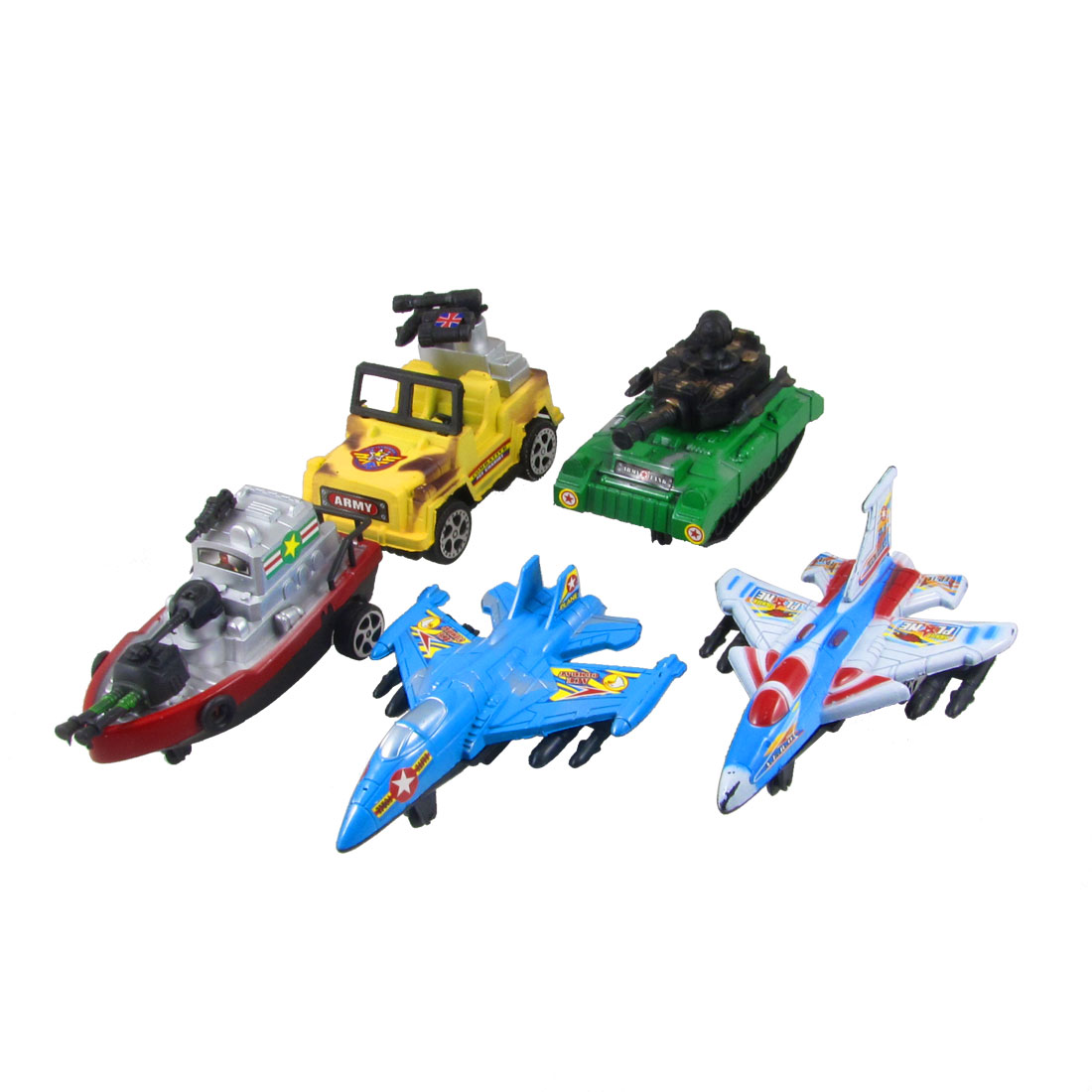 5 in 1 Colorful Plastic Panzer Tank Plane Toy for Children