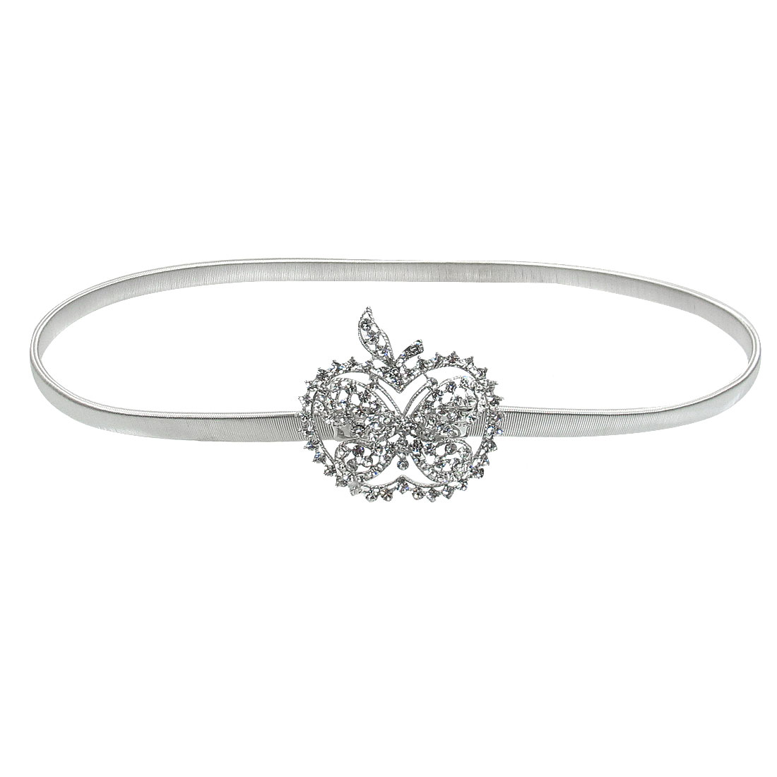 Silver Tone Apple Butterfly Design Stretchy Metal Waistband for Ladies