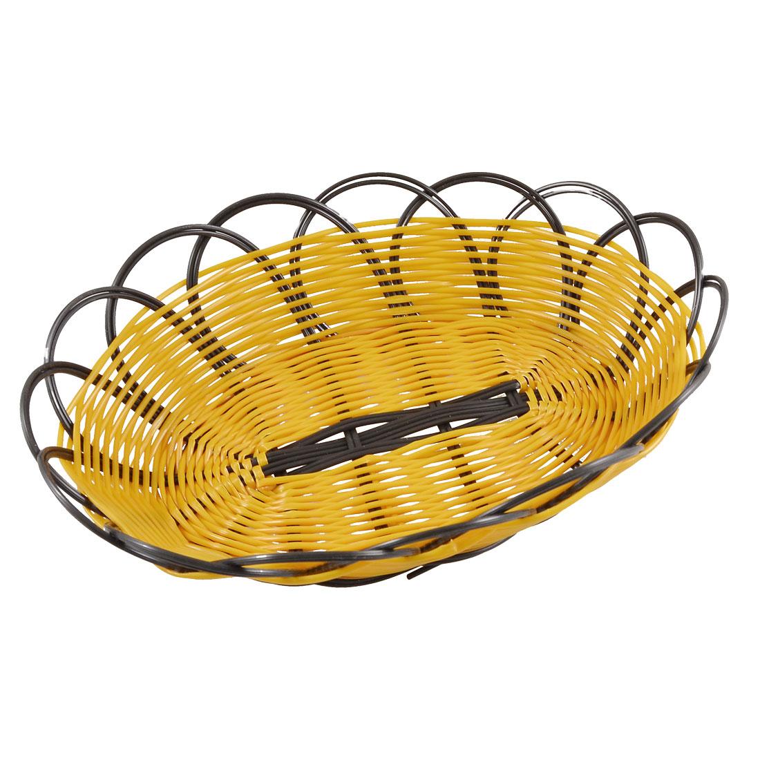 Light Brown Black Fruit Vegetable Basket Container Washing Colander