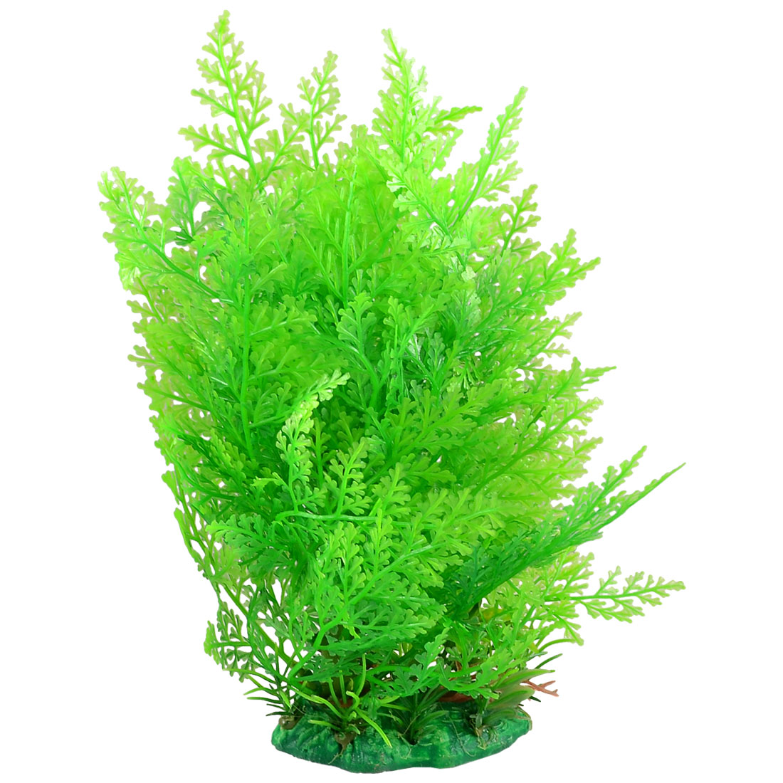 "Green Plastic Grass Ornament for Fish Tank Aquarium 8.6"" High"