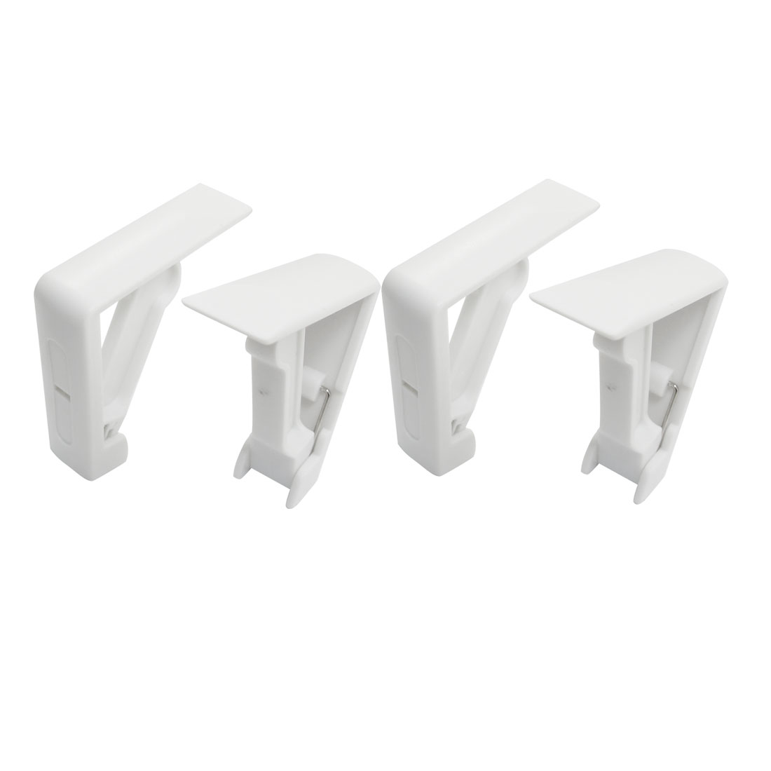 4 Pcs Table Cloth Cover Holder Spring Loaded Tablecloth Clamp Clips White
