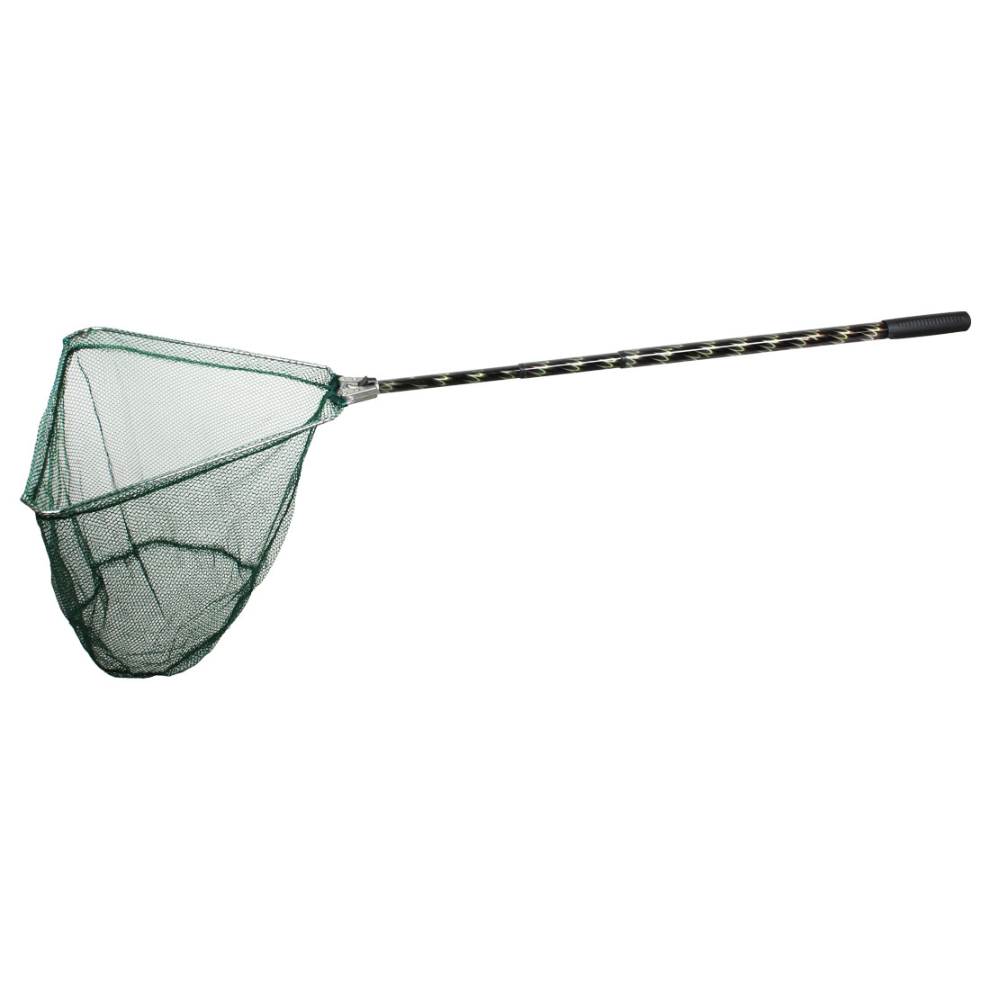 1.2M 3 Section Handle Triangle Frame Green Dipnet Fishing Landing Net
