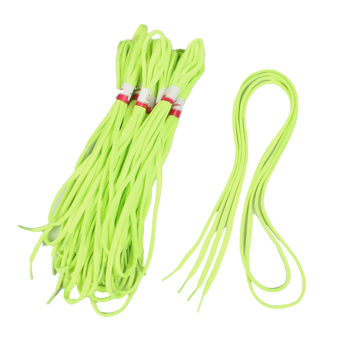 10 Pair 120cm Length Yellowgreen Round Sport Shoes String Shoelaces