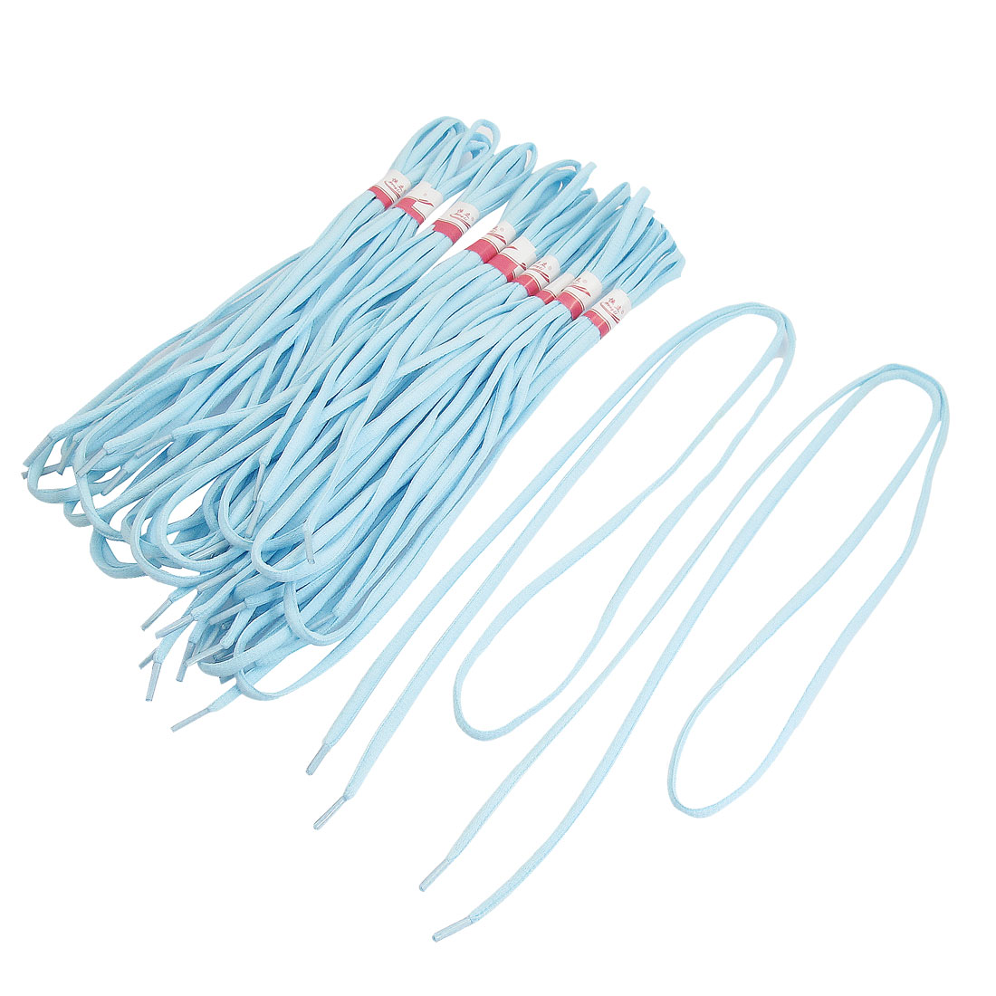10 Pairs 120cm Long Sport Leisure Shoes Sneakers Round Shoelaces Light Blue