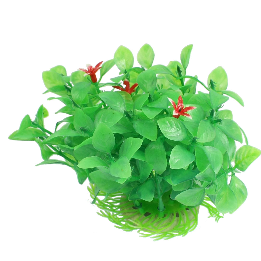 "Fish Tank Aquarium Ornament Green Plastic Grass Plant 4.8"" Height"