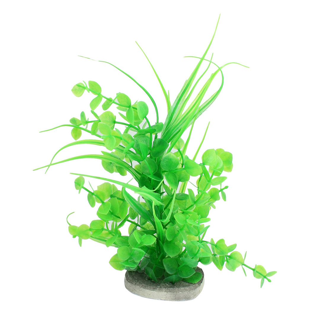 "Aquarium Decoration 8.5"" Height Green Leaf Plastic Underwater Plant"