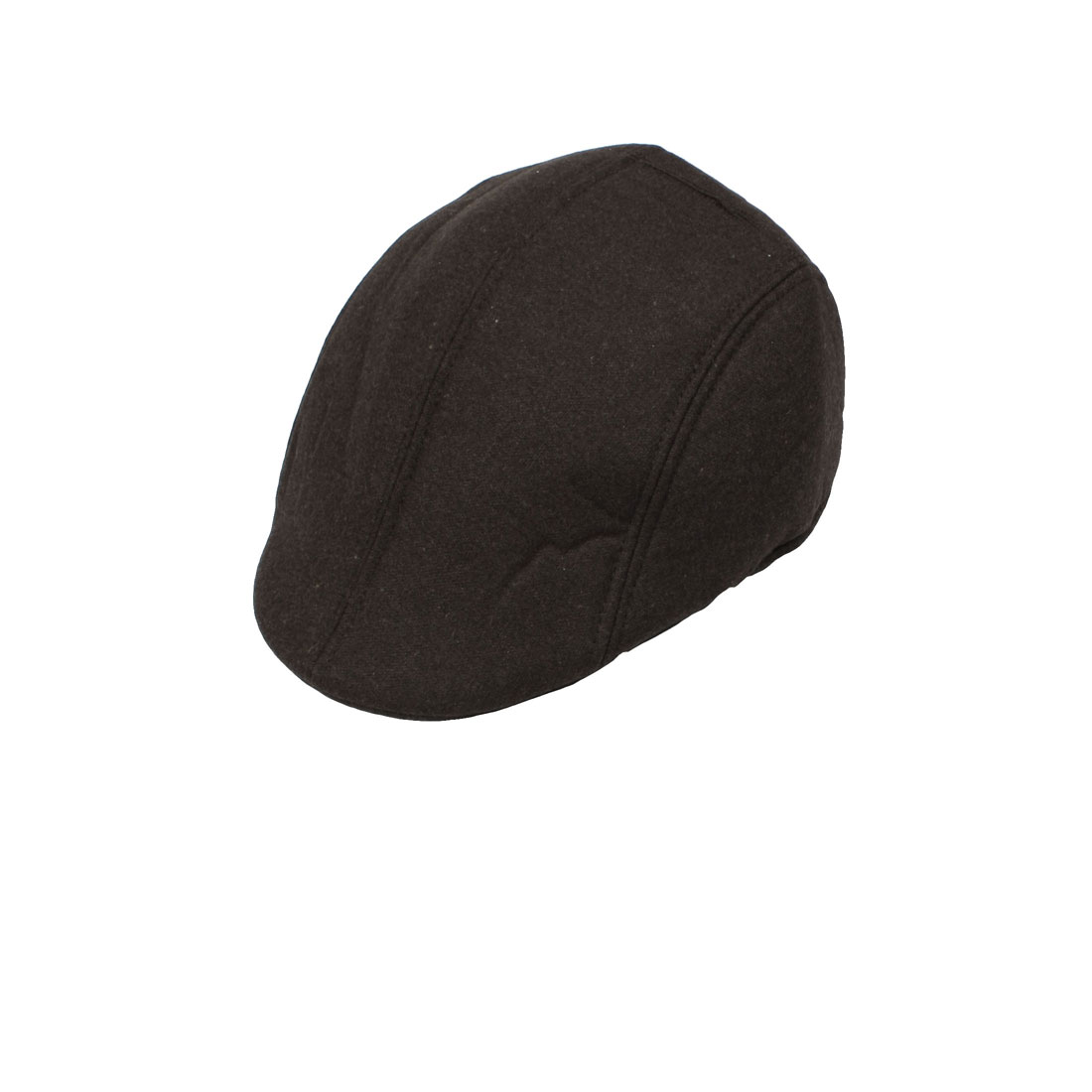 Men Women Driving Biker Beret Round Brim Cabby Hat Flat Cap Coffee Color