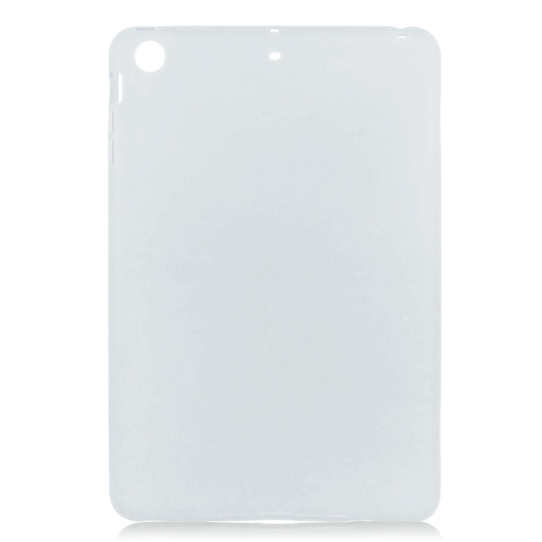 White Soft Silicone Skin Case Cover Protector for Apple iPad Mini