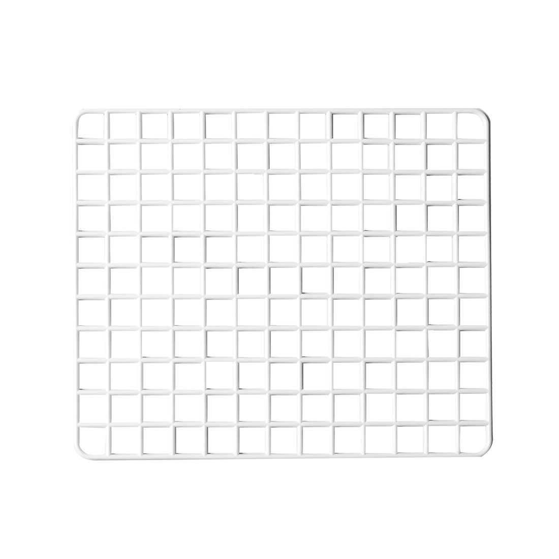 Kitchen Plate Dish White Plastic Mesh Grid Design Draining Board Holder