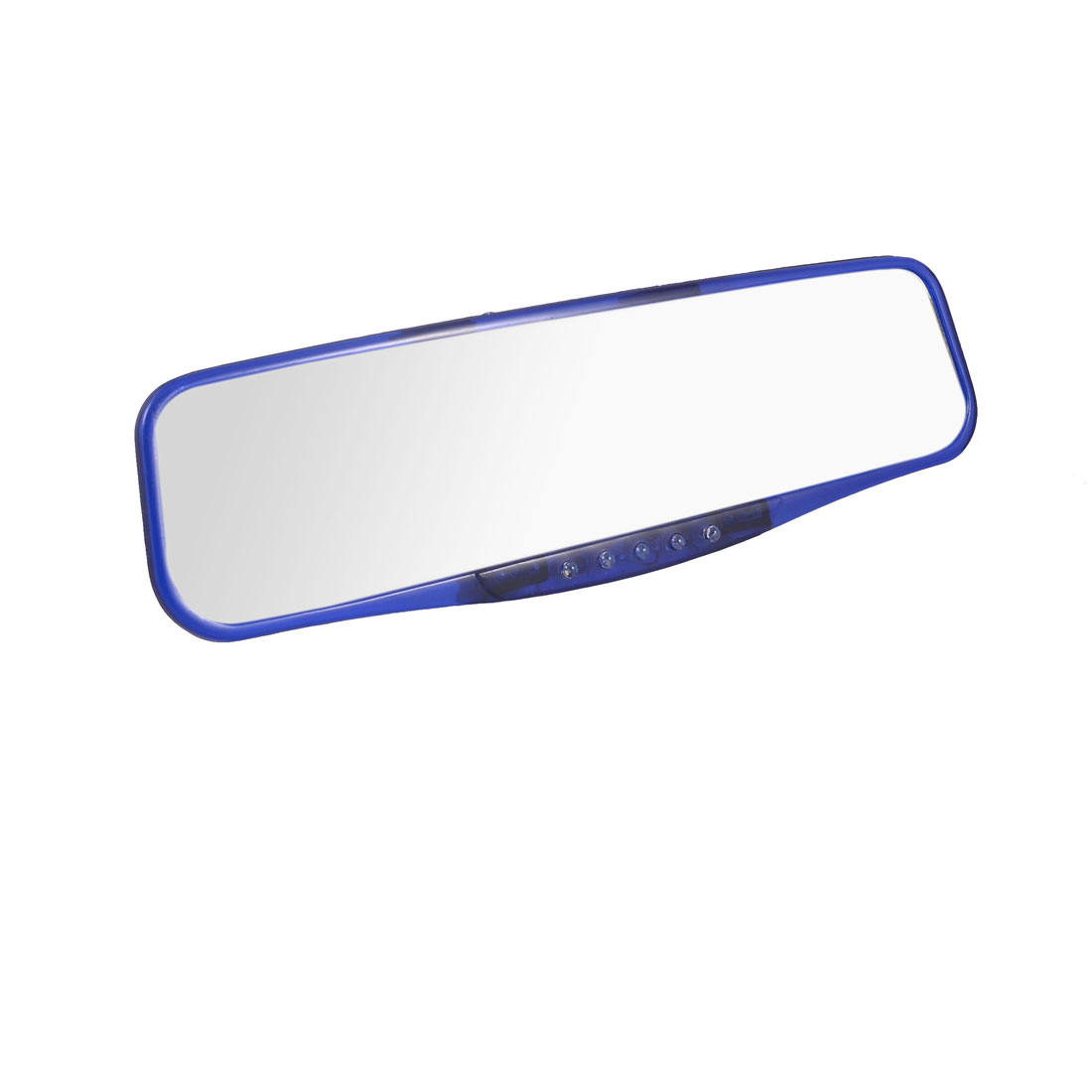 Auto Car Interior Rectangular Blue Plastic Frame Flat Rearview Mirror