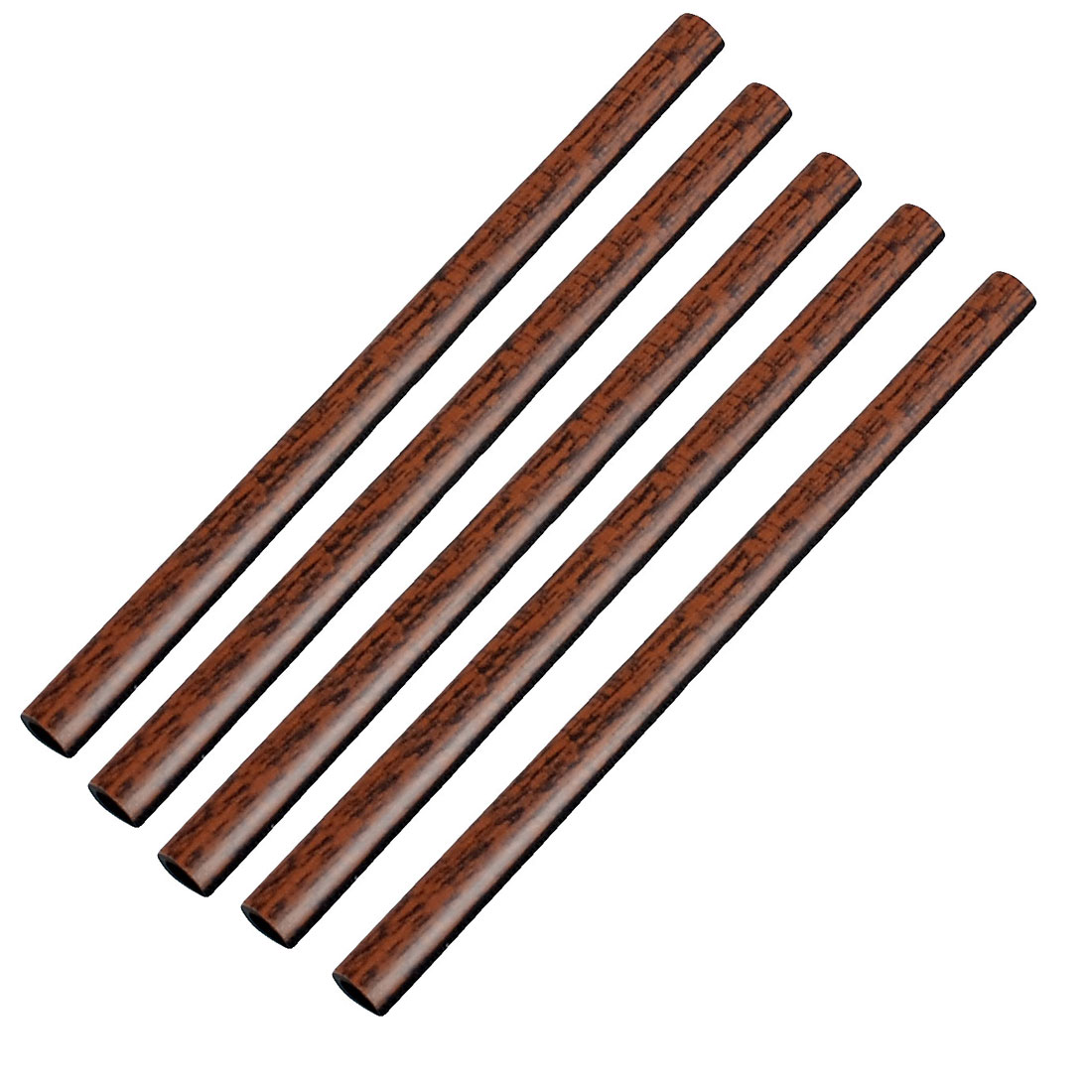 Brown Window Plastic Filter Decor Air Intake Inlet Tube 5 Pcs for Auto Car