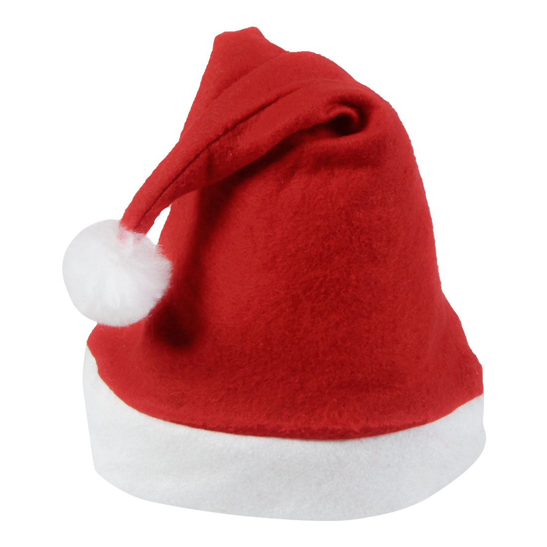 White Trim True Red Christmas Santa Hat Xmas Gift for Adults