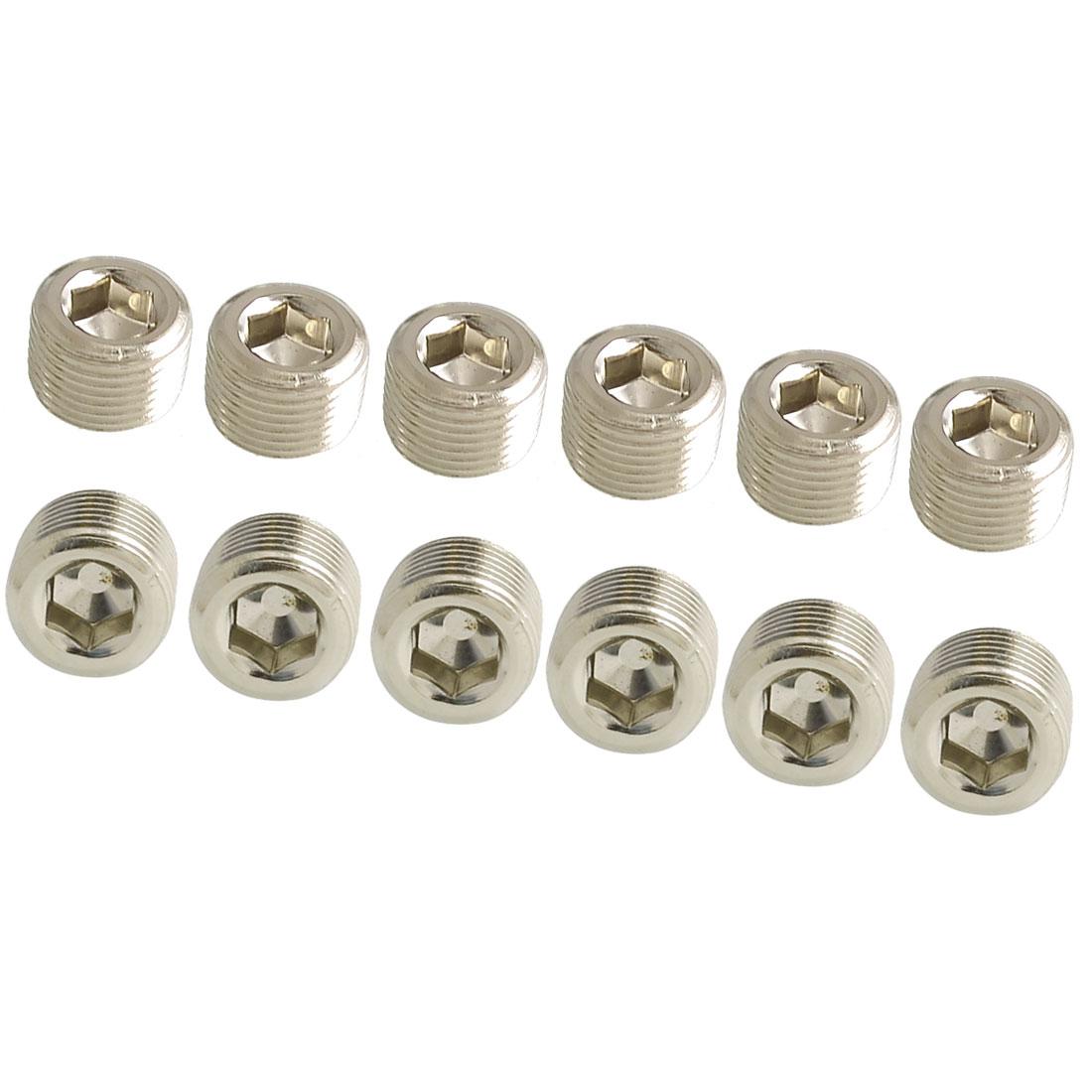 Hexagon Socket 16mm Threaded Countersunk Connector Cap 12 Pcs