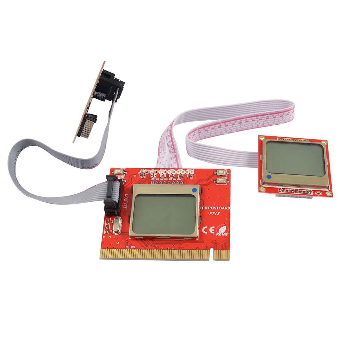 LCD Display PCI Diagnostic Motherboard Analyzer Tester Post Debug Card Red