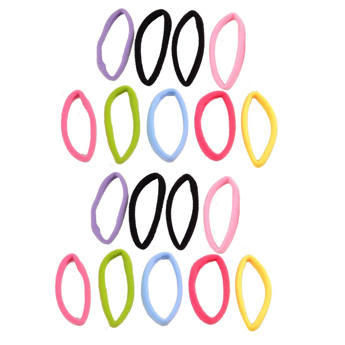 18 Pieces Assorted Color Elastic Ponytail Holder Hair Bands for Girls