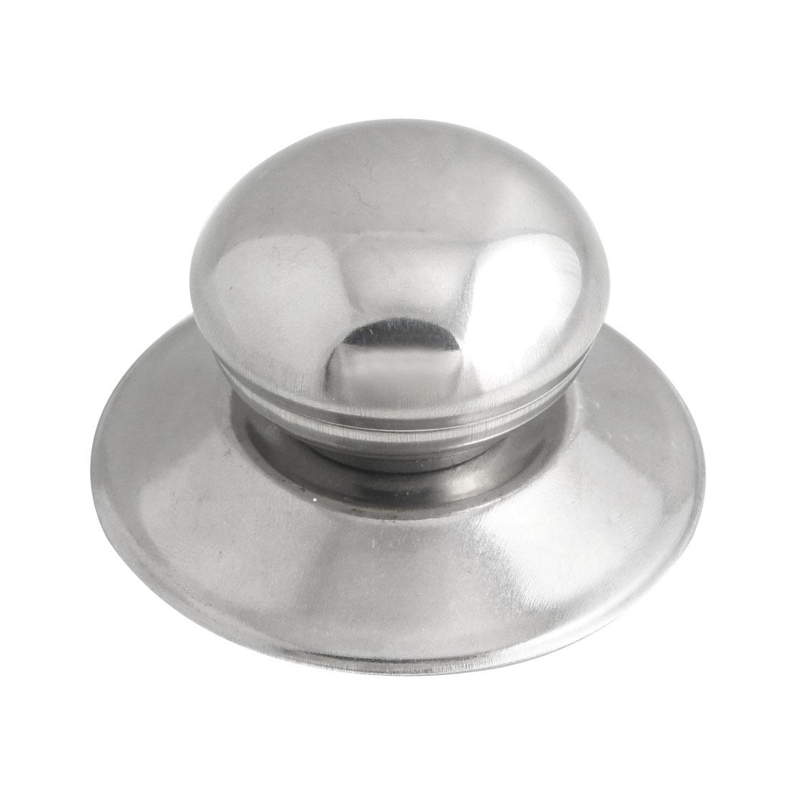 Kitchen Replacement Metal 4cm Knob Dia Pot Kettle Lid Knob Silver Tone