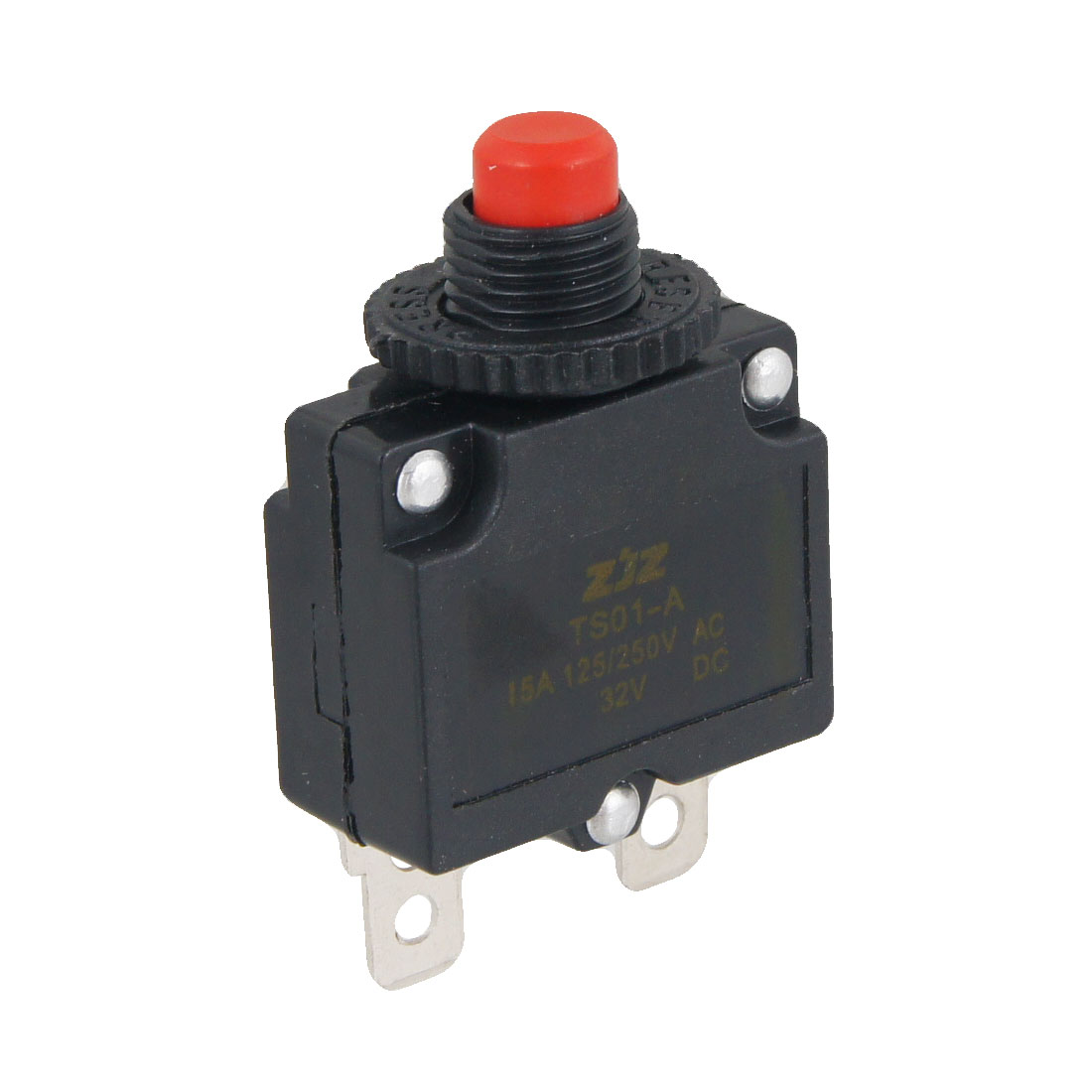 9.6mm Thread Dia DC 32V Air Compressor Circuit Breaker Overload Protector 15A
