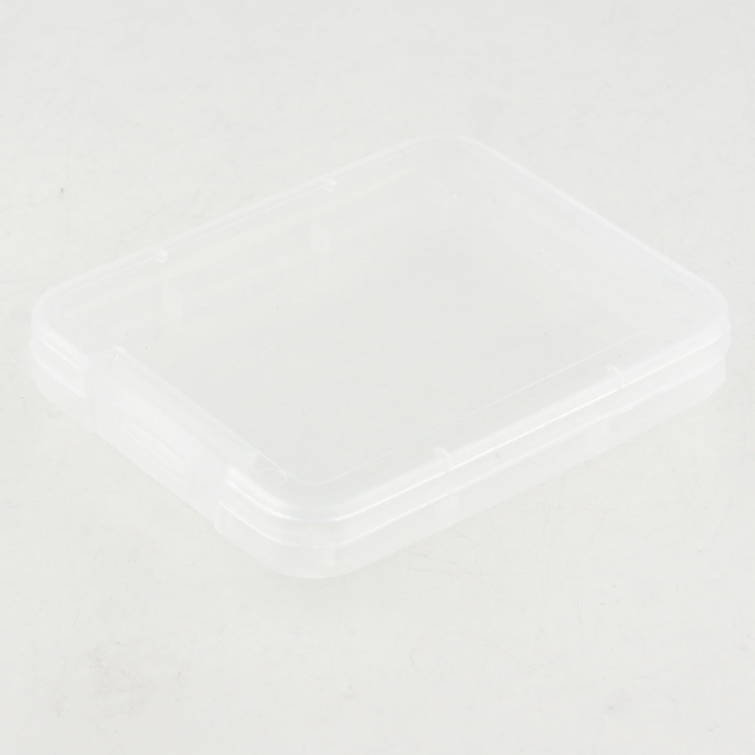 Clear White Plastic Holder Case for SD/TF Memory Card