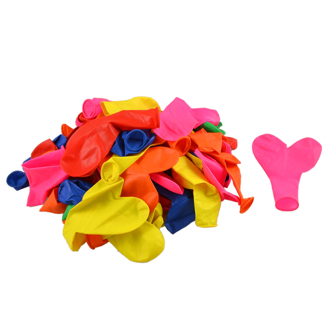 Festival Ceremony Parties Latex Hearts Balloons Ornament Assorted Color 80pcs