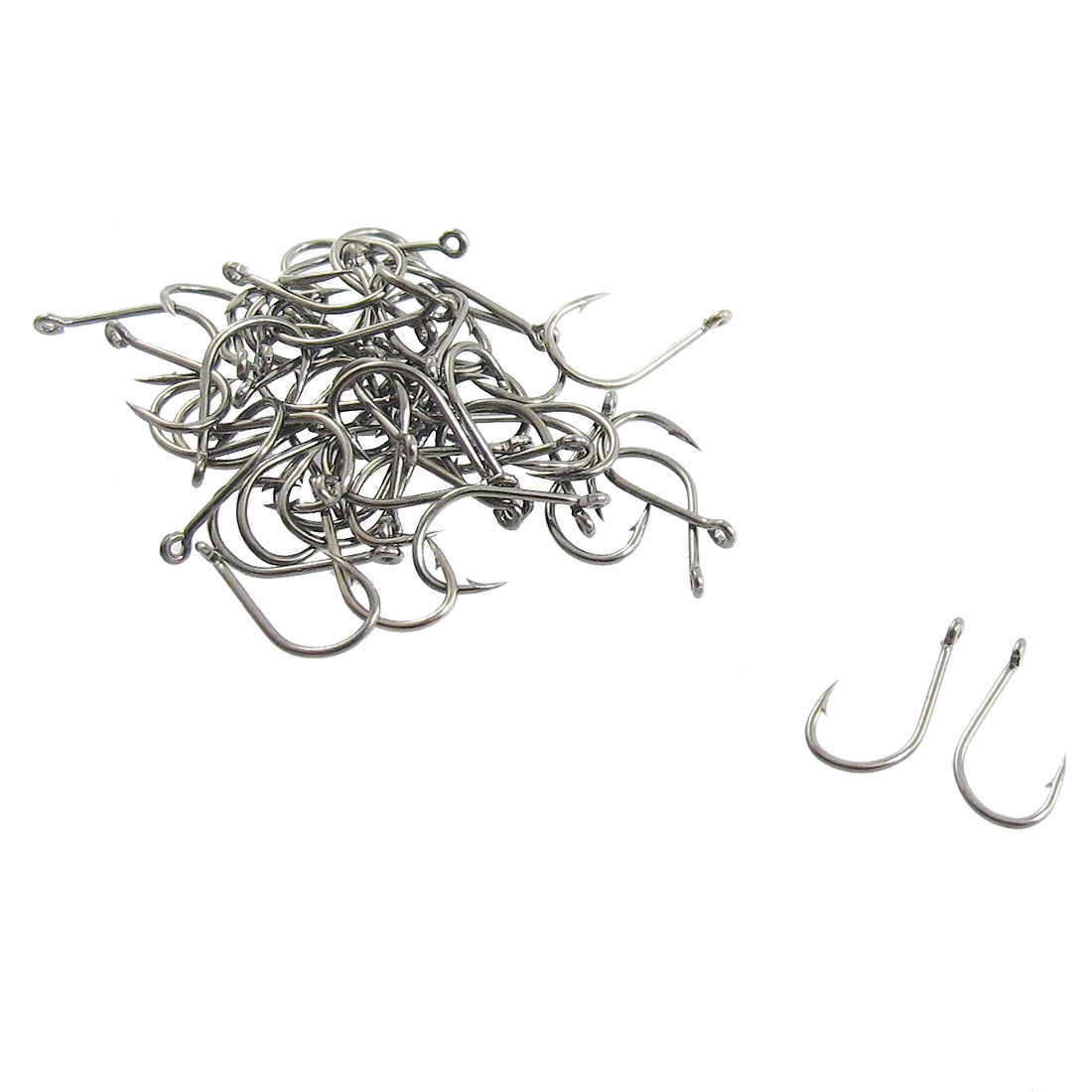 50 Pcs Black Metal Eyeless Barbed Fishhook Fishing Tool 1#