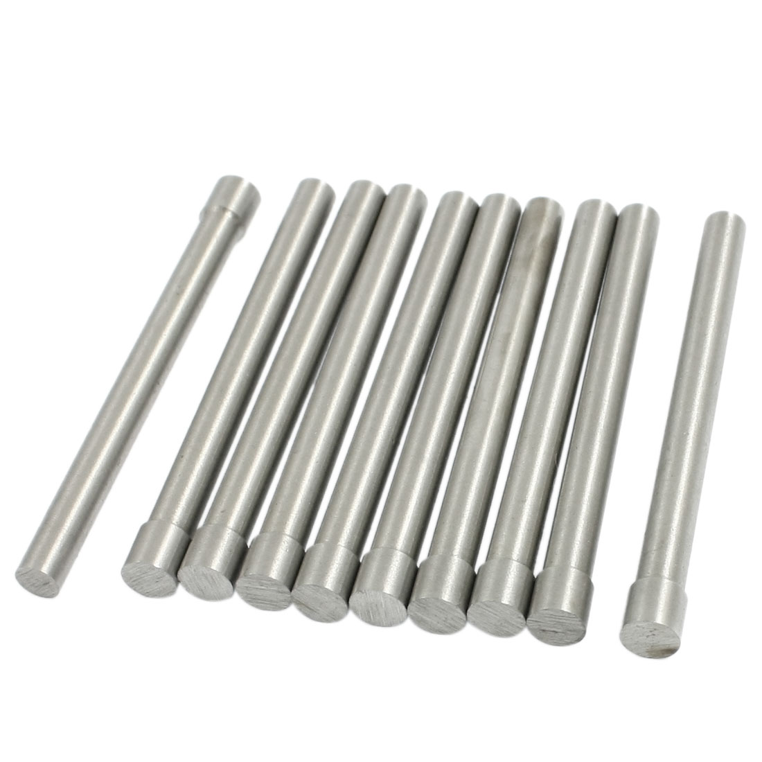 10 Pcs 5mm Diameter Round Tip Steel Pin Pilot Punch Hand Tool