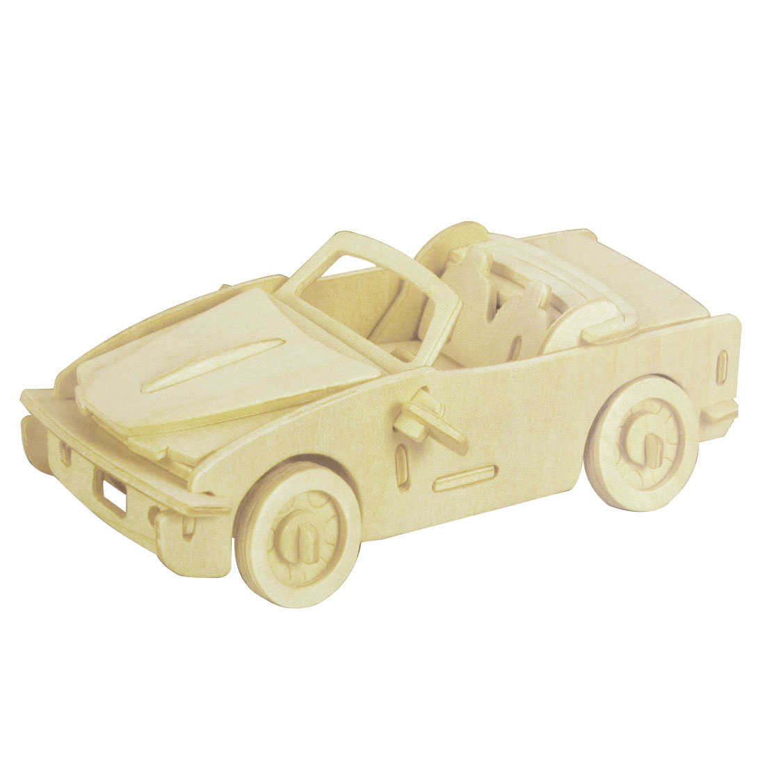 3D Wooden Puzzle Car Model DIY Educational Toy for Child