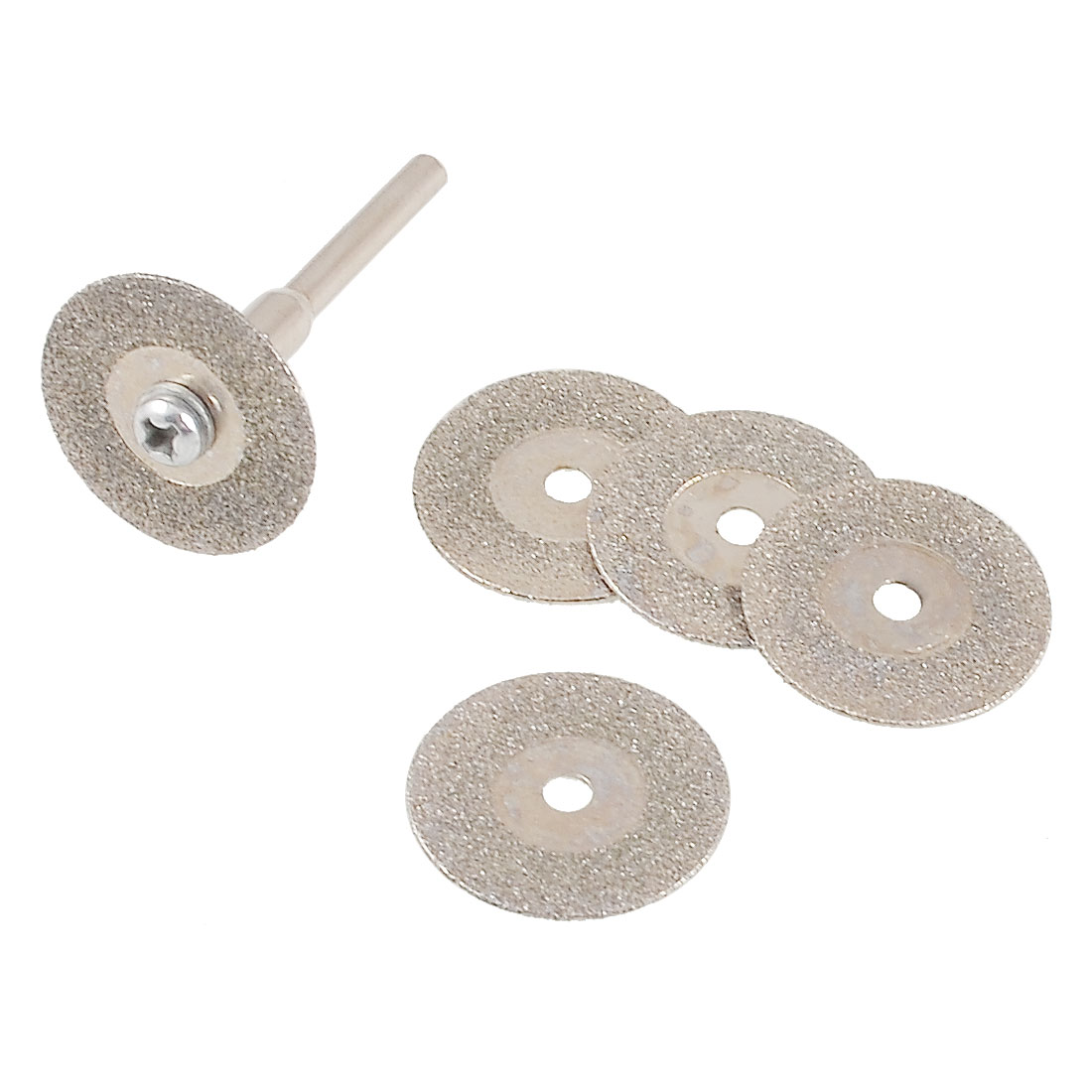 16mm Dia Mini Electric Grinder Abrasive Cutting Wheel 6 Pcs w Connector