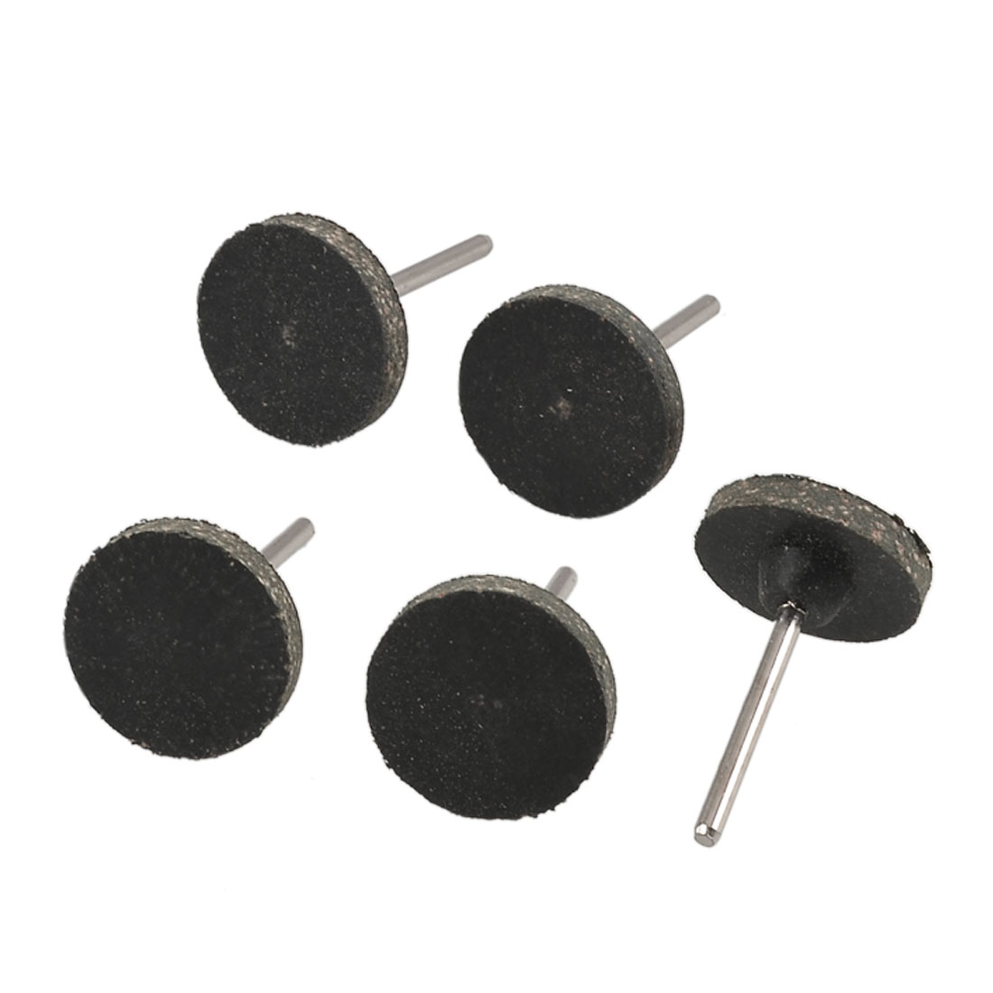 5 Pcs 25mmx4mm Rubber Cylindrical Grinding Heads Mounted Tool