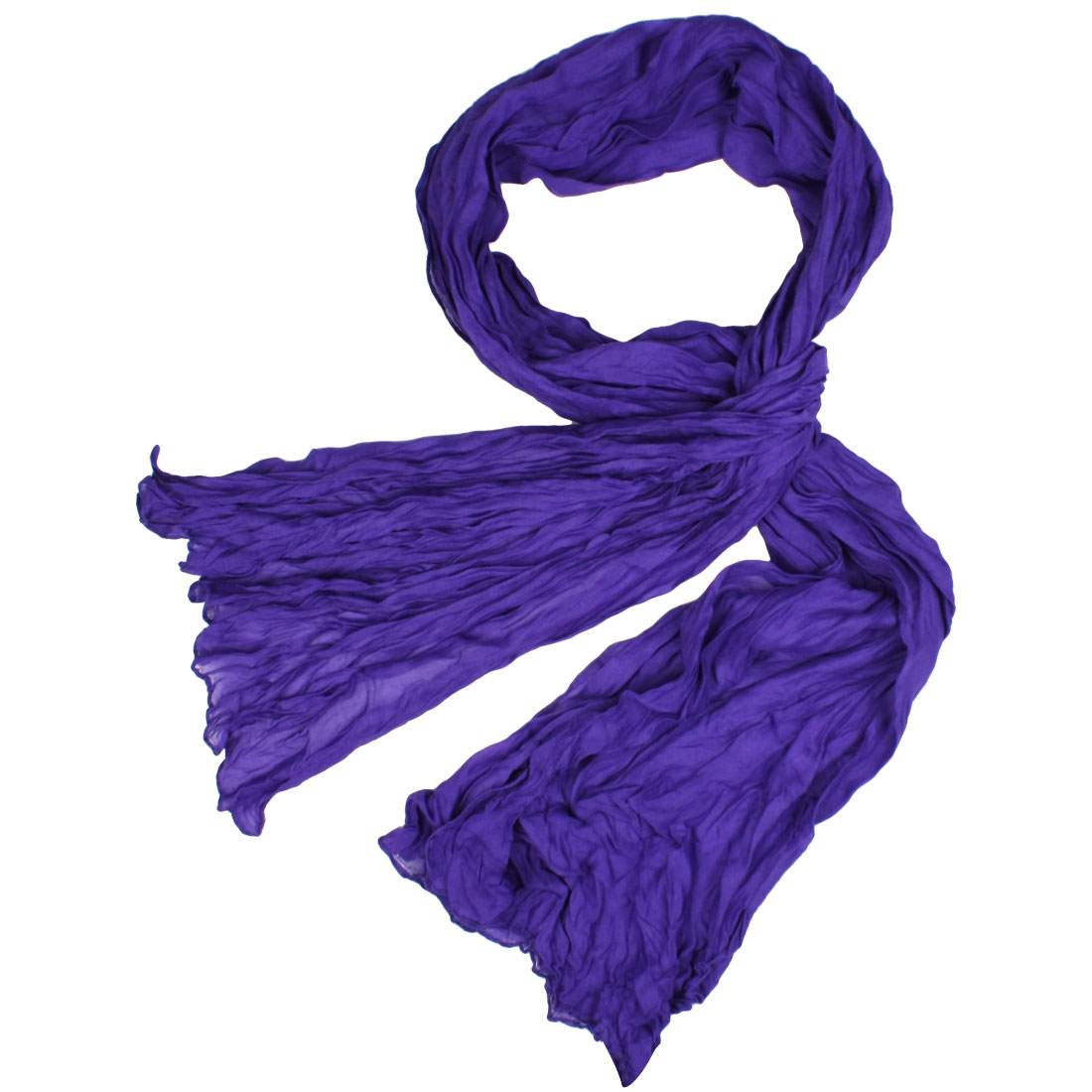"Lady Purple Cotton Blends 69.3"" x 30.7"" Wrinkled Long Scarf Shawl"
