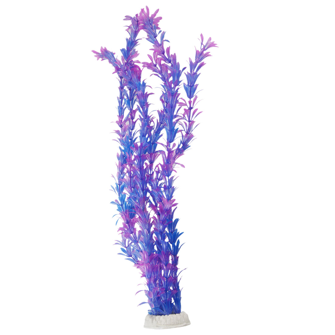 Aquarium Fish Tank Underwater Aquascaping Fuchsia Blue Plastic Plant 20.9""